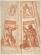 Design for the Decoration of a Cupola with a Prophet, King David and Two Putti