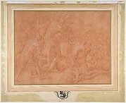 Ulysses and His Companions Fighting the Cicones Before the City of Ismaros, Study for a Destroyed Fresco in the Galerie d'Ulysee, Chateau de Fontainebleau