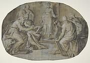 The Virgin and Saint Joseph find Jesus Disputing with the Doctors in the Temple