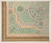 Design for the decoration of a ceiling with circular medallions