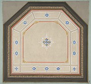 Design for the decoration of a pentagonal ceiling