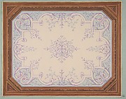 Design for the decoration of a ceiling in rinceaux