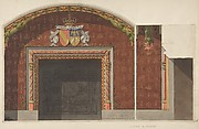 Design for the decoration of the fireplace in the library of the Chateau de Mouchy