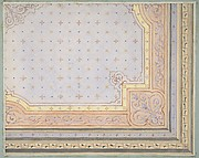 Partial design for the painted decoration of a ceiling