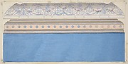 Design for the decoration of a ceiling cove and moulding