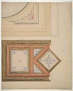 Designs for a ceiling and painted panel