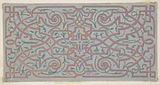 Design for the decoration of a ceiling with strapwork