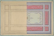 Design for the painted decoration of a ceiling in strapwork and rinceaux
