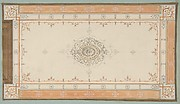 Design for the decoration of a ceiling with filagree borders and a central medallion