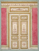 Design for double doors decorated in the rococco style