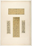 Four designs for decorative panels