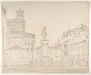 View of the South side of the church of Santi Giovanni e Paolo in Venice, with Verocchio's statue of Bartolomeo Colleoni