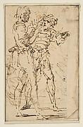 Two Standing Men Gesticulating