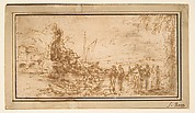 Marine landscape with figures