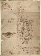 Study for a Judgment of Paris and Other Figure Studies