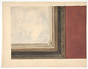Design for a ceiling painted with clouds