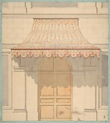 Design for an awning over a door, in Moorish style