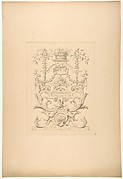 Design for a decorative panel in the Baroque style for the Chateau de Vaux-Praslin