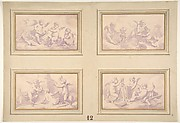 Designs featuring the allegories of the arts