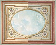 Design for a ceiling of trompe l'oeil sky