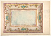 Design for a ceiling with trompe l'oeil balustrade and putti