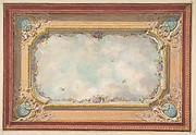 Design for a ceiling with trompe l&amp;#39;oeil sky