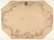 Design for a ceiling painted with putti, garlands, and swags