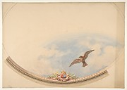 Design for a ceiling painted with clouds and a soaring eagle