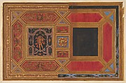 Design for a ceiling painted with grotesque motifs