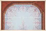 Partial design for painted ceiling