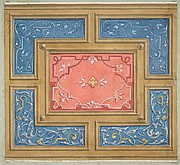 Design for a coffered ceiling with painted panels