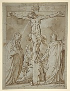 Christ Crucified, Attended by the Virgin, Saint Mary Magdalen, and Saint John the Evangelist