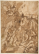 The Presentation of the Virgin in the Temple (recto); Another Design for the Same Composition (verso)