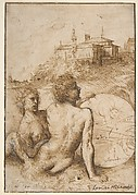 Two Satyrs in a Landscape