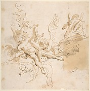 Sheet of Studies: Five Angels (recto); Youth in Clerical Robes and Other Studies (verso)