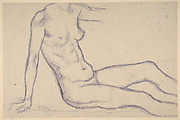 Torso of a Seated Nude, Facing Right (Study for Monument to Paul Cézanne)