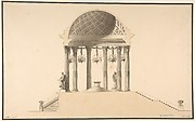 Design for a Section of a Domed Corinthian Temple