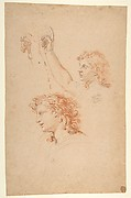 Studies for the Archangel Gabriel (recto and verso)
