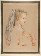 Head of a Young Girl and Studies of Hands and of her Right Foot