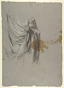 Drapery Study for Saint Remi (middle register; study for wall paintings in the Chapel of Saint Remi, Sainte-Clotilde, Paris, 1858)