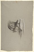Drapery Study for Figure Holding Crown (middle register); study for wall paintings in the Chapel of Saint Remi, Sainte-Clotilde, Paris, 1858
