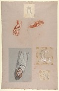 a.  Hands of Saint Remi (lower register); b.  Head of Saint Clotilde (upper register); c.  Head of Saint Clotilde (lower register); d.  Head of an Angel (upper register); e.  Hand and Sleeve of Saint Remi