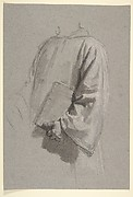 Drapery Study for a Cleric (lower register; study for wall paintings in the Chapel of Saint Remi, Sainte-Clotilde, Paris, 1858)