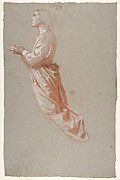 Angel (upper register; study for wall paintings in the Chapel of Saint Remi, Sainte-Clotilde, Paris, 1858)