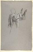 Cleric with Raised Arms (lower register?; study for wall paintings in the Chapel of Saint Remi, Sainte-Clotilde, Paris, 1858)