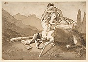 Centaur Holding Up a Youthful Satyr