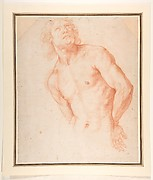 Half-Figure of a Male Nude with Arms behind Back