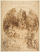 Studies for a Circular Composition of Diana and Her Nymphs Bathing (recto); Studies for the Same Composition (verso)