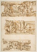 Drawing for Engraving in Raccolta di Vari Schizzi, Venice, 1747, After Angelo Rosis.