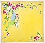 Design for a Scarf with Floral Motif
